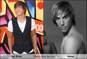 Zac Efron Totally Looks Like Bruno
