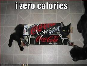 i zero calories