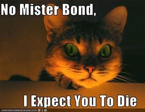 No Mister Bond,  I Expect You To Die