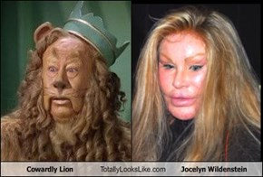 Cowardly Lion Totally Looks Like Jocelyn Wildenstein