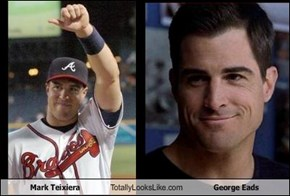 Mark Teixiera Totally Looks Like George Eads