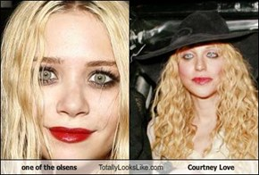 one of the olsens Totally Looks Like Courtney Love