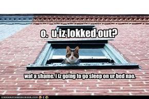 o.  u iz lokked out?