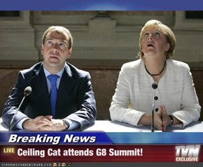 Breaking News - Ceiling Cat attends G8 Summit!