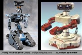 Johnny Five from Short Circuit Totally Looks Like ROB from SSB Brawl