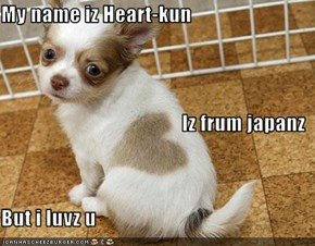 My name iz Heart-kun Iz frum japanz But i luvz u