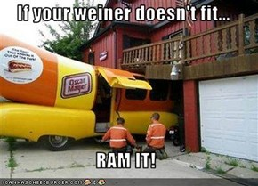 If your weiner doesn't fit...  RAM IT!