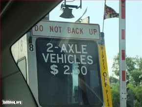 Toll Booth Fail