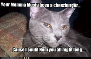 Your Momma Musta been a cheezburger...