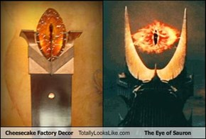 Cheesecake Factory Decor Totally Looks Like The Eye of Sauron