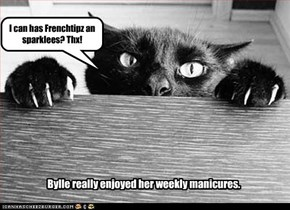 Bylle really enjoyed her weekly manicures.