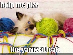 halp me plzz  the yarnz attcak