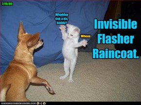 Invisible Flasher Raincoat.