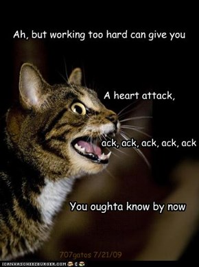 """Chattering kitteh brings you a musical morsel from """"Movin' Out"""" by Billy Joel"""