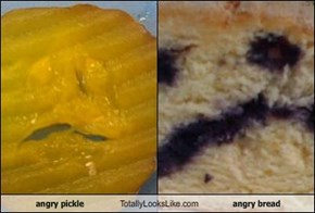 angry pickle Totally Looks Like angry bread
