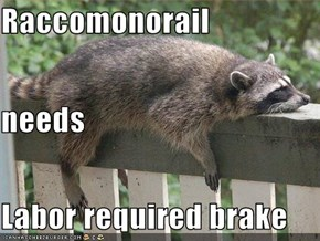 Raccomonorail needs Labor required brake