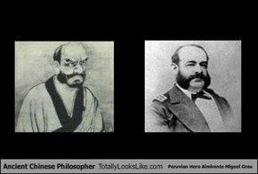 Ancient Chinese Philosopher Totally Looks Like Peruvian Hero Almirante Miguel Grau