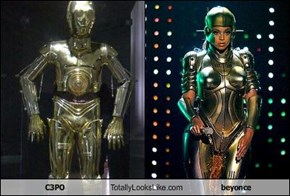 C3PO Totally Looks Like beyonce