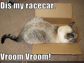 Dis my racecar.  Vroom Vroom!