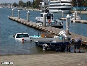 Boat Launch Fail