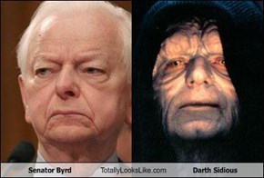 Senator Byrd Totally Looks Like Darth Sidious