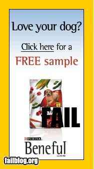 A free sample of my dog?? 0.o