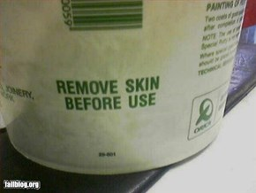 Remove skin before use.