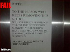 Notice fail