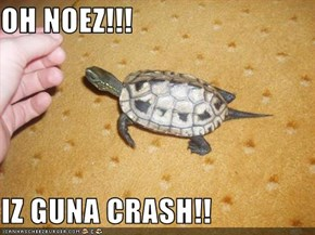 OH NOEZ!!!  IZ GUNA CRASH!!