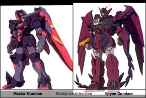 Master Gundam Totally Looks Like Epyon Gundam