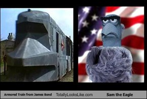 Armored Train from James Bond Totally Looks Like Sam the Eagle
