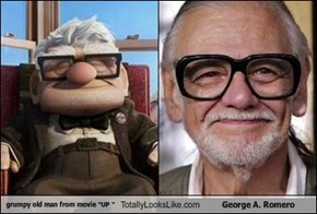 "grumpy old man from movie ""UP "" Totally Looks Like George A. Romero"