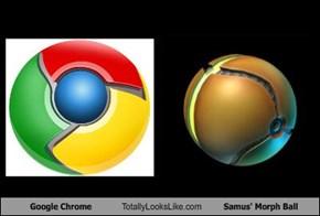 Google Chrome Totally Looks Like Samus' Morph Ball