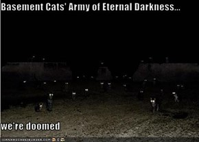 Basement Cats' Army of Eternal Darkness...  we're doomed