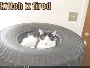 kitteh iz tired