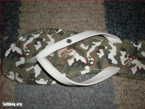 Fail Army shoe peace signs
