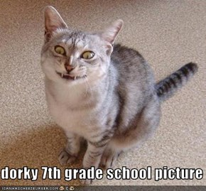 dorky 7th grade school picture