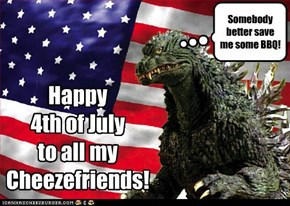 Happy  4th of July  to all my Cheezefriends!