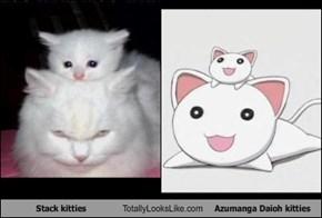 Stack kitties Totally Looks Like Azumanga Daioh kitties