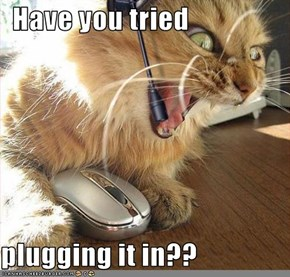 Have you tried  plugging it in??