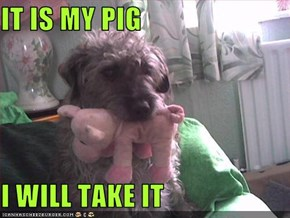 IT IS MY PIG  I WILL TAKE IT