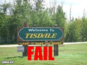 Town Sign FAIL