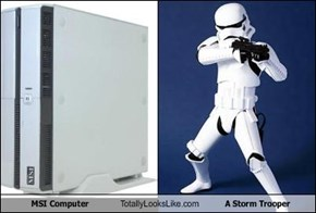 MSI Computer Totally Looks Like A Storm Trooper