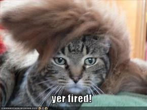 yer fired!