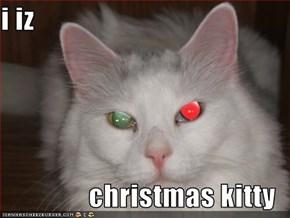 i iz  christmas kitty