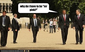 """why do i have to be """"mr pink?"""""""