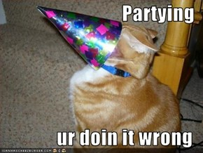 Partying  ur doin it wrong