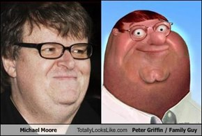 Michael Moore Totally Looks Like Peter Griffin / Family Guy
