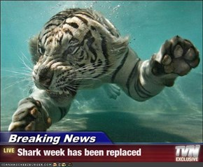 Breaking News - Shark week has been replaced
