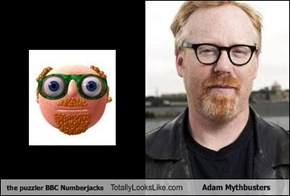the puzzler BBC Numberjacks Totally Looks Like Adam Mythbusters